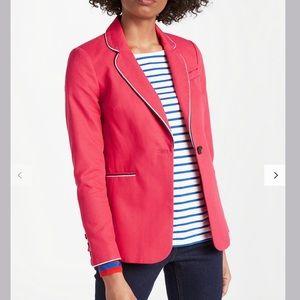 Boden Lilah Cotton Blazer jacket Hibiscus Sz 16